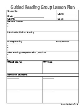 Guided Reading Lesson Planning Bundle