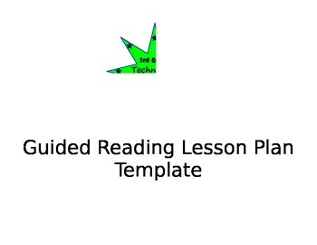 Guided Reading Lesson Planning Template