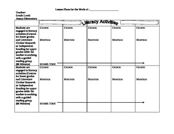 Guided Reading Lesson Plans