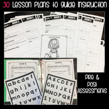Guided Reading: Level A: NO PREP Lesson Plans & Activities for Small Group