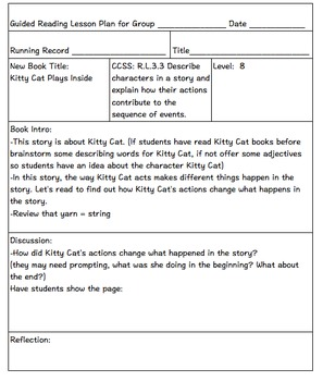 Guided Reading Lesson Plans DRA Levels 8-12