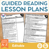 Guided Reading Lesson Plans A-Z EDITABLE