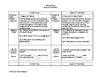 Guided Reading Lesson Plans: Horrible Harry Bugs the Three Bears