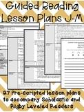 Guided Reading Lesson Plans: J-M (320-500L)