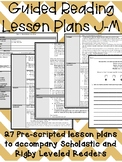 Guided Reading Lesson Plans: J-M (320-500L)