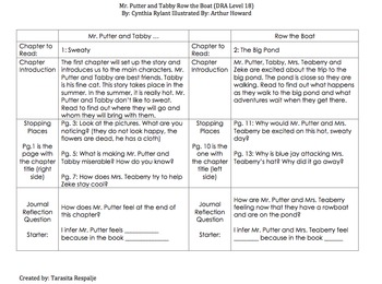 Guided Reading Lesson Plans: Mr. Putter and Tabby Row the Boat