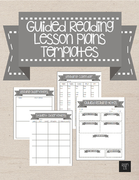 Guided Reading Lesson Plans Templates