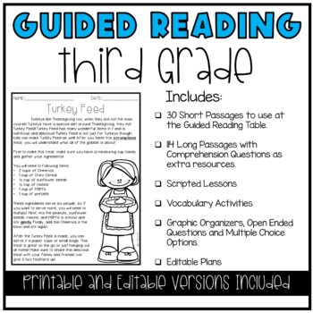 Guided Reading Lesson Plans (YEAR LONG-3RD GRADE)