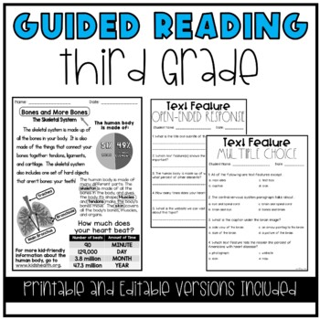 Guided Reading Lesson Plans 3rd Grade Tpt
