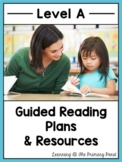 Guided Reading Activities and Lesson Plans for Level A