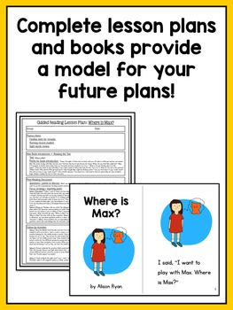 Guided Reading Activities and Lesson Plans - Levels A Through D BUNDLE