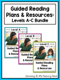 Guided Reading Lesson Plans, Books, & Activities Bundle {Levels A-C}