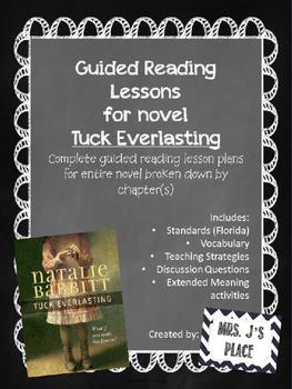 Tuck Everlasting Guided Reading Lesson Plans