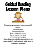 Guided Reading Lesson Plans...Just a Circle Away!