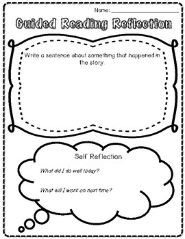 Guided Reading Lesson Sheet