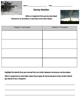 Guided Reading Lesson-Stormy Weather