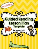 Editable Guided Reading Lesson Template
