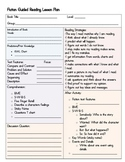 Guided Reading Lesson Template - Fiction