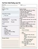 Guided Reading Lesson Template - Non-Fiction