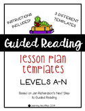 Guided Reading Lesson Templates