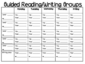 Guided Reading Lesson Templates and Running Record Forms!
