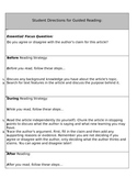 Guided Reading Lesson for Tracing Arguments and Claims