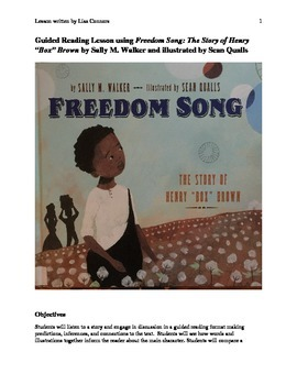 "Guided Reading Lesson using Freedom Song: The Story of Henry ""Box"" Brown"