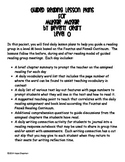 Guided Reading Lessons- Muggie Maggie by Beverly Cleary- Level O