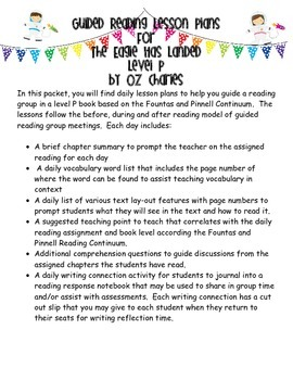 Guided Reading Lessons- The Eagle Has Landed- Level P