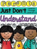 Guided Reading Letters for Levels A-D for Dra and F&P 1-4