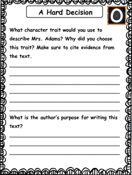 Guided Reading Level 0 Comprehension Printables