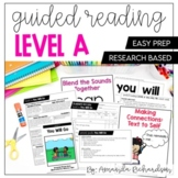 Guided Reading Level A Lesson Plans and Activities