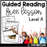 Guided Reading Level A Free Lesson