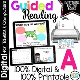 Guided Reading Level A Activities & Lessons (Print & for Digital Google Use)