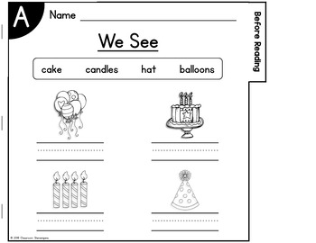 Guided Reading: Level A Flip Book {FREEBIE}