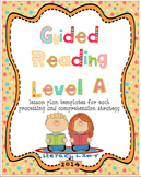 Guided Reading Level A Lesson Plan Templates and Resources