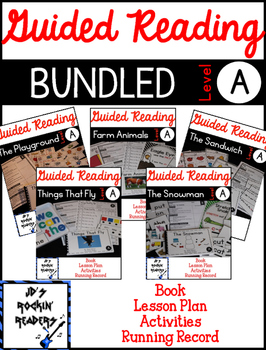 Guided Reading Level A Lesson Plans and Activities- BUNDLED