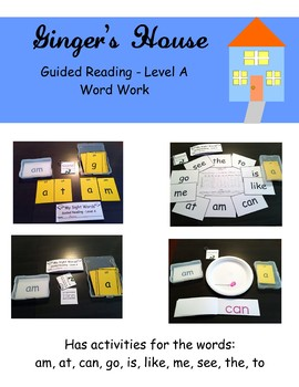 Guided Reading - Level A Word Work