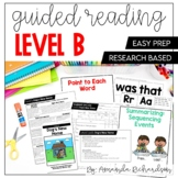Guided Reading Level B Lessons, Books, and Activities