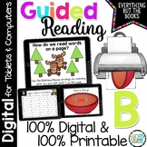 Digital Guided Reading Distance Learning Level B Google Classroom Activities