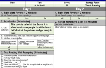 Guided Reading Level B Lesson Plans (Journeys)