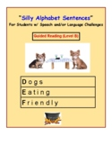 Guided Reading Level B: Silly Alphabet Sentences for Speech/ Language Challenged