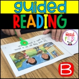 Guided Reading Group Lessons Level B with lesson plan template for kindergarten