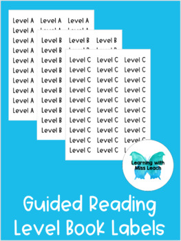 Guided Reading Level Book Labels