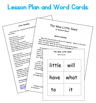 Guided Reading Level C Book: The Wee Little Seed (Plants Life Cycle) w/ Plans
