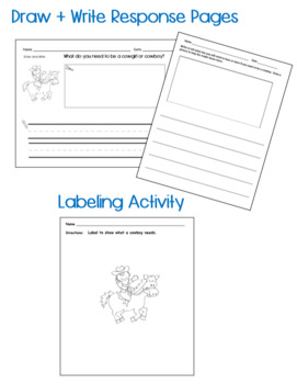 Guided Reading Level C:  I Can be a Cowboy w/ Writing Response Sheet