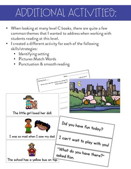 Guided Reading (Level C) Lessons and Activities