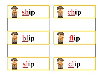 Guided Reading Level C- My Scrapbook -AP and -IP Word Families