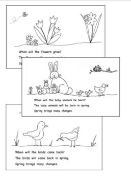 Guided Reading Level C/D Book: SPRING! with  C. Core Lesson Plan, Word Cards