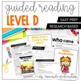 Guided Reading Level D Lesson Plans and Activities